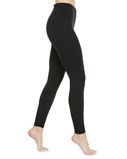 Stretch-Jersey Control Leggings, Black