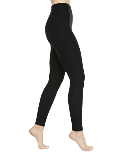Ribbed Control Leggings, Black