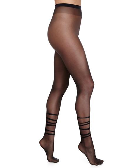 Tessa Sheer Tights, Black