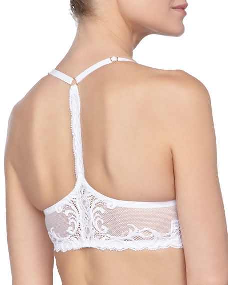 Feathers Front-Close Racerback Bra