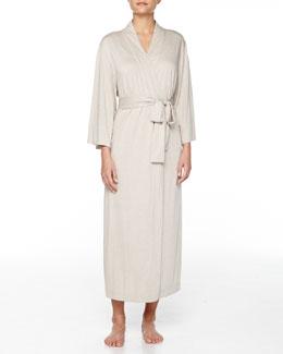 Shangri-La Jersey Long Robe, Cashmere