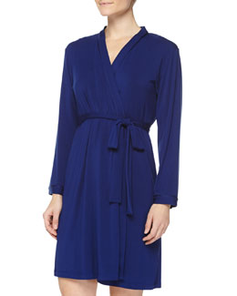 Delicate Lace Wrap Robe, Royal Navy