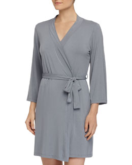 Talco Solid Short Robe, Petra Gray