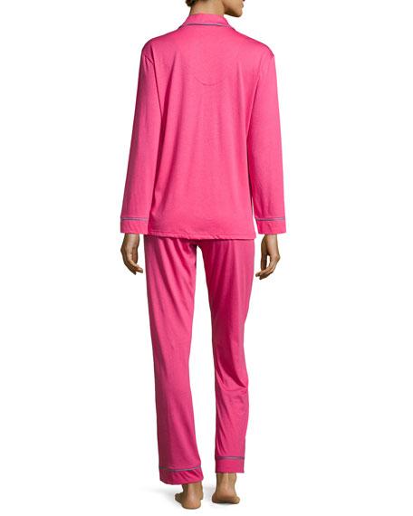 Bella Piped Solid Pajamas, Garnet/Petra