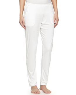 Venezia Straight-Leg Pants, Off-White