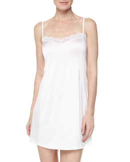 Capri Lace-Trimmed Chemise, Off-White