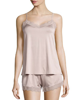 Capri Lace Trim Pajama Set, Maple Sugar