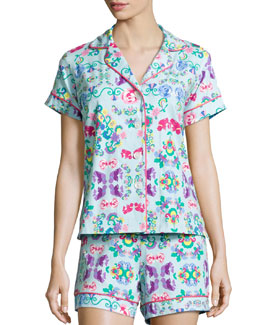 Classic Shorty Pajama Set, Floral Wonderland