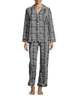Printed Classic Pajama Set, Zebra