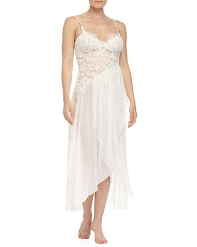 Raquel Lace & Chiffon Gown, Ivory