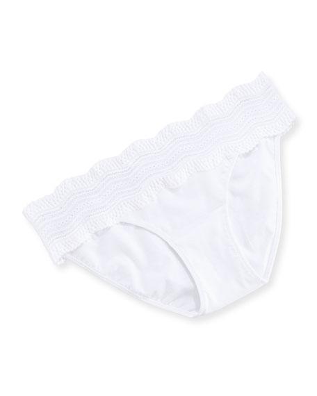 Dolce Vita Low-Rise Bikini Briefs, White