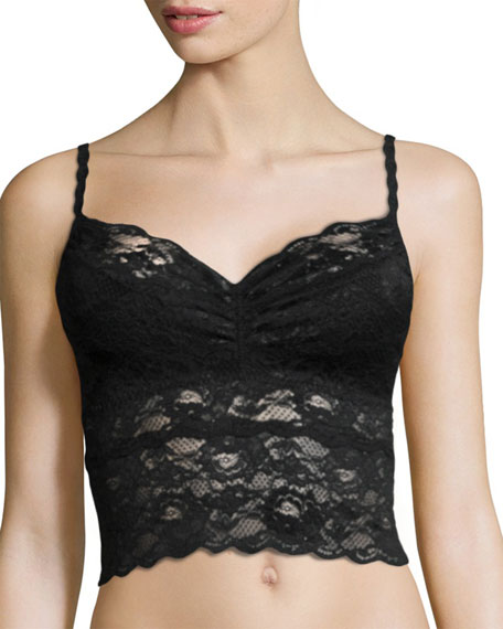 Never Say Never Cropped Lace Camisole, Black