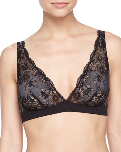 Italia Lace Soft Bra, Black