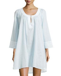 Cotton Lawn Sleep Shirt, Blue Hydrangea
