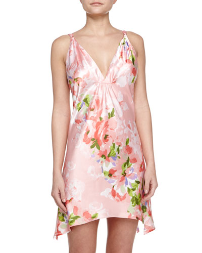 Garden Party-Print Chemise, Pink