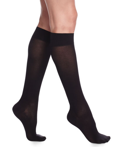 Cotton Knee Highs, Black