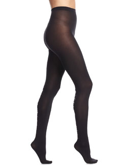 Carrie Tights with Back-Bar Design, Black