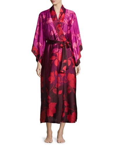 Sophia Floral-Print Wrap Robe, Multi