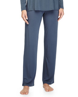 Primula Drawstring Lounge Pants, Light Blue