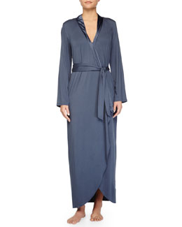 Primula Asymmetric Cutaway Long Robe, Light Blue