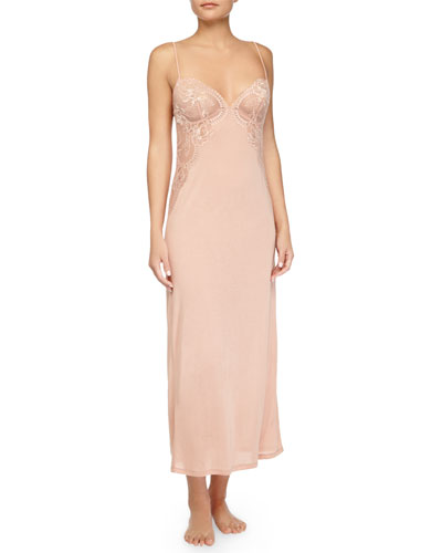 Begonia Lace Long Gown, Pink