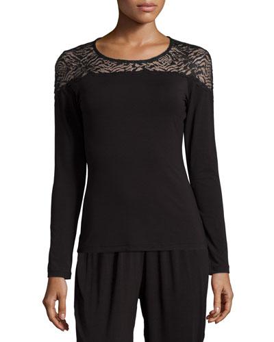 Orsay Long-Sleeve Lounge Top, Black
