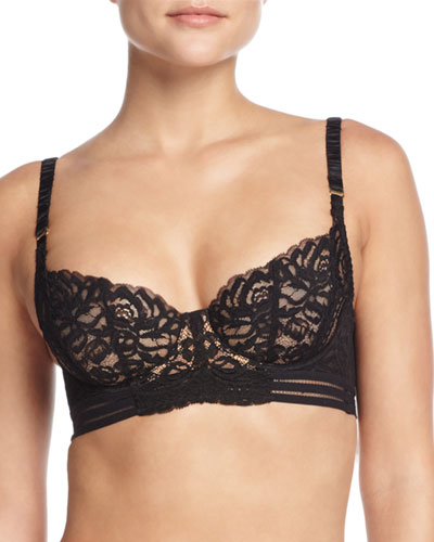Isabel Floating Underwire Bra, Black
