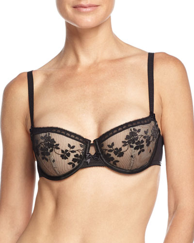 Intuition Underwire Demi Bra, Black/Nude