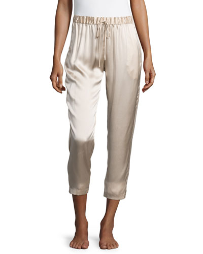 Drawstring Silk Lounge Pants