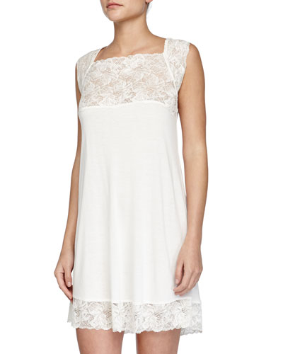 Margherita Lace Babydoll, Naturale