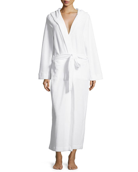 Hanro Long Hooded Plush Robe, White
