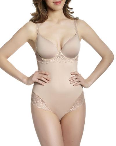 Caresse Bodysuit W/3D Plunge
