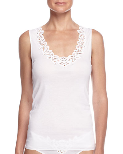 Isabeau Lace-Trimmed Tank Top