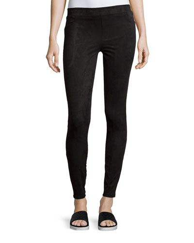 Easily Suede Textured Leggings, Very Black