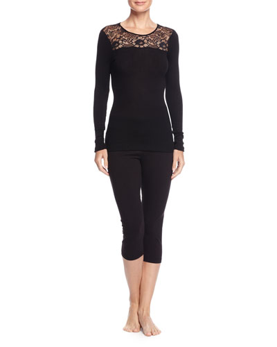 Contance Long-Sleeve Top W/Lace