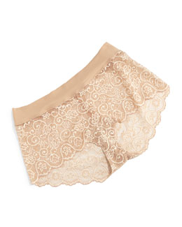 Double Take Tulip Lace Boyshort Briefs