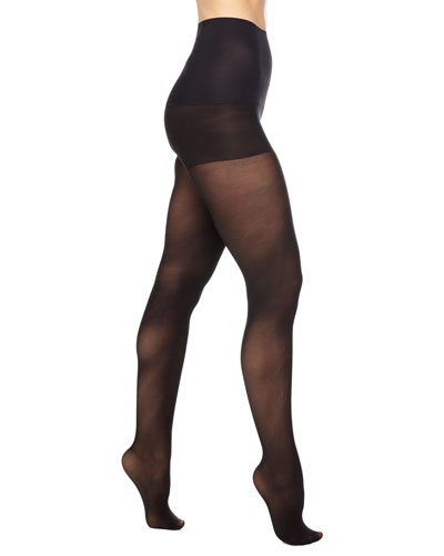 Semi-Opaque Control Tights, Black