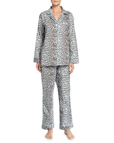 Wild Thing Pajama Set, Gray/Aqua, Women's