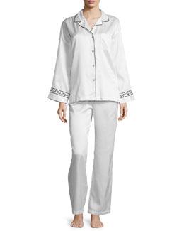 Freya Brushback Long Pajama Set