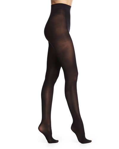 Solid Opaque Tights, Black