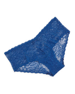 Trenta Low-Rise Hotpants, Blue Myrtille