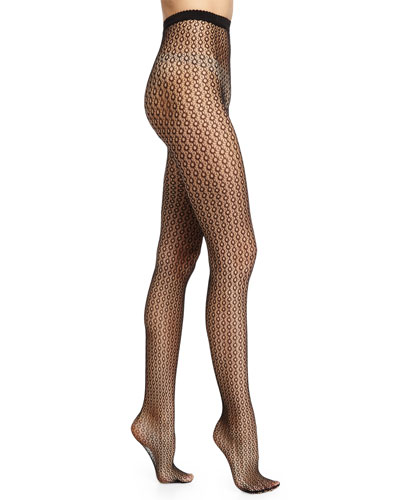 Comet Net Tights, Black/Hematite