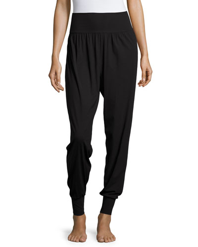 Pure Plus Tapered-Leg Trousers, Black