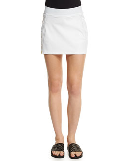 Back Flip Sport Skirt, White