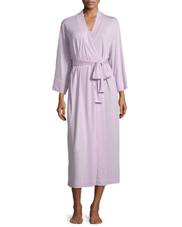 Shangri-La Jersey Long Robe, Lilac