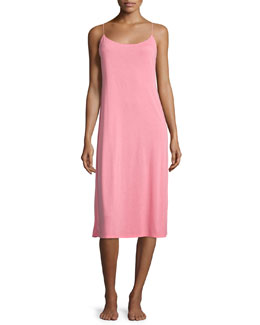 Shangri La Long Jersey Nightgown, Pink