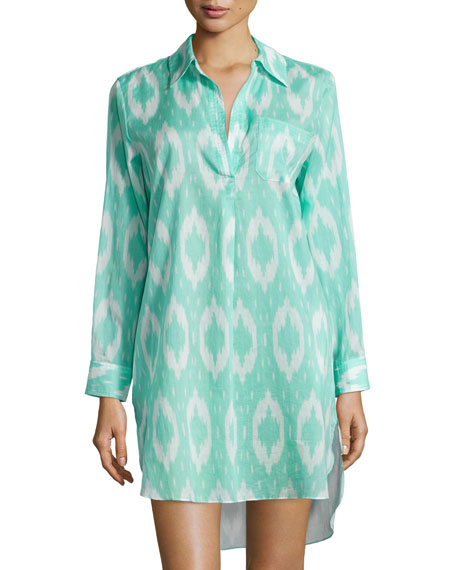 Natori Batik-Print Sleepshirt