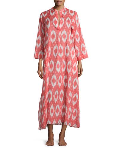 Batik-Print Long Caftan