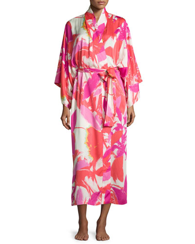 Lucent Palms Robe, Duchess Rose