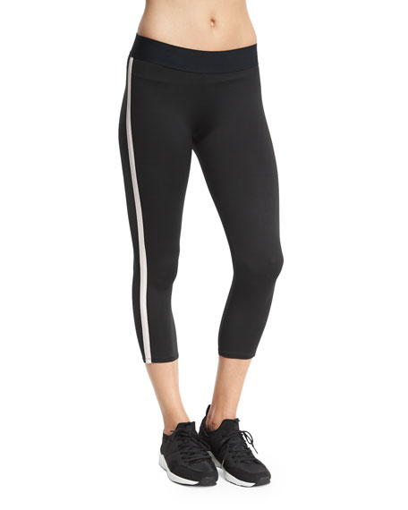 Exerciser Capri Leggings, Black/Blush